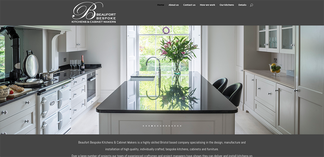 Beaufort Bespoke Kitchens homepage