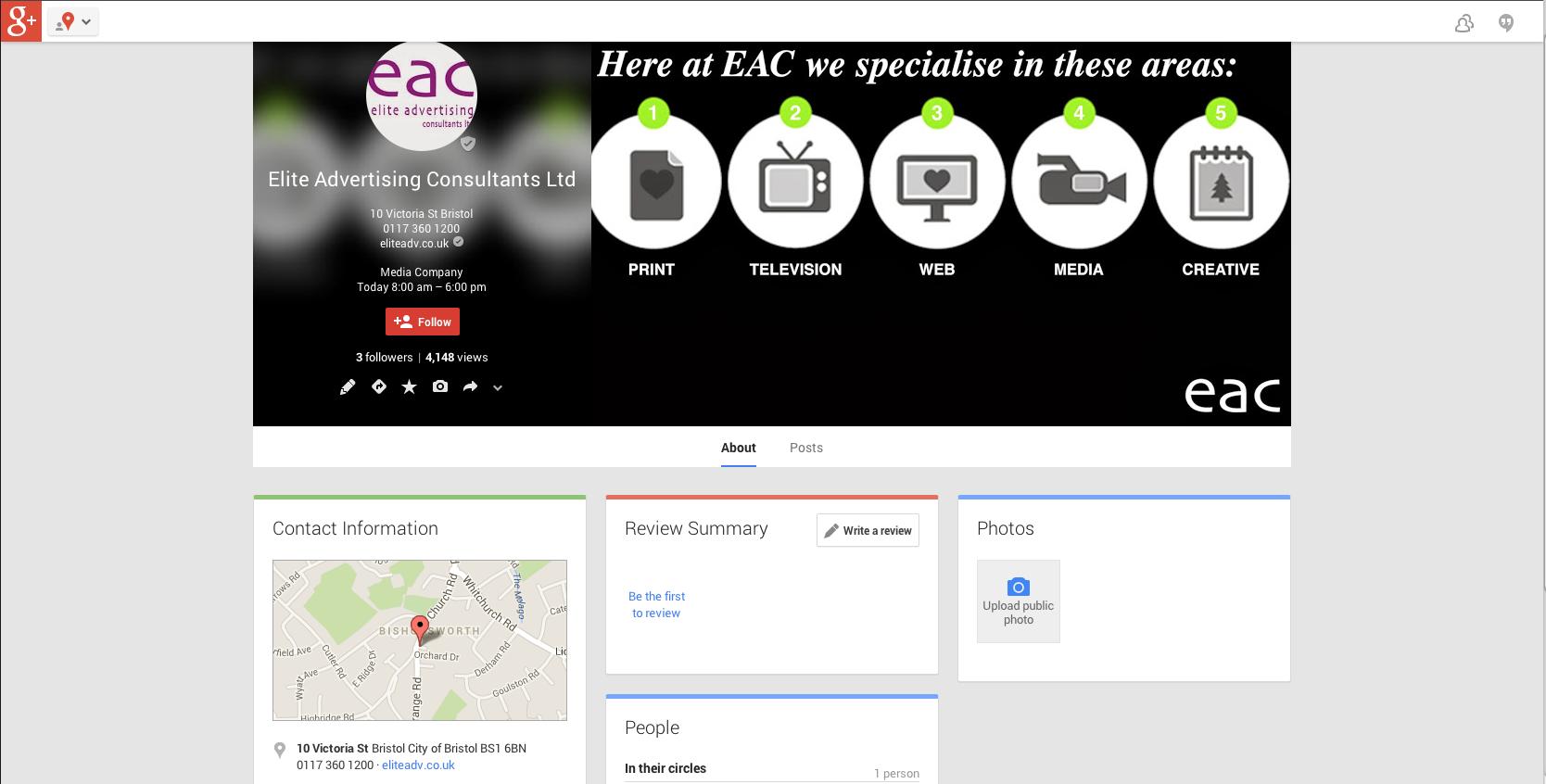 Elite Advertising Consultants Google+