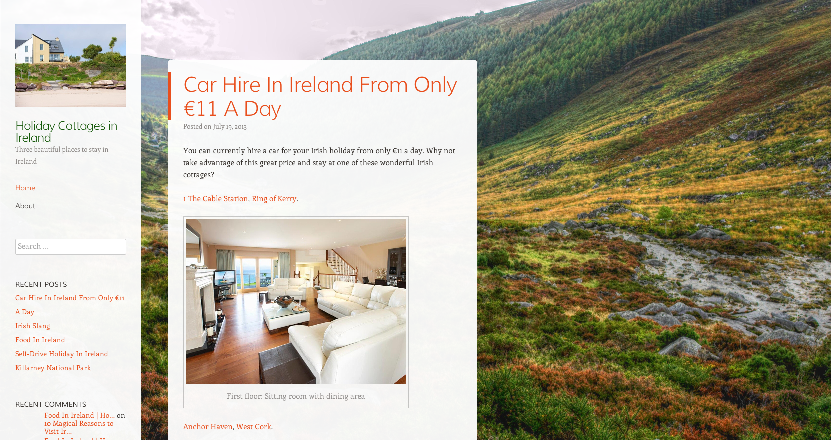 Rural Retreats Holiday Cottages in Ireland blog