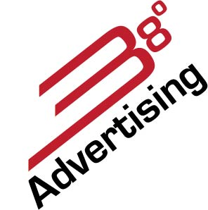 38 degrees advertising logo