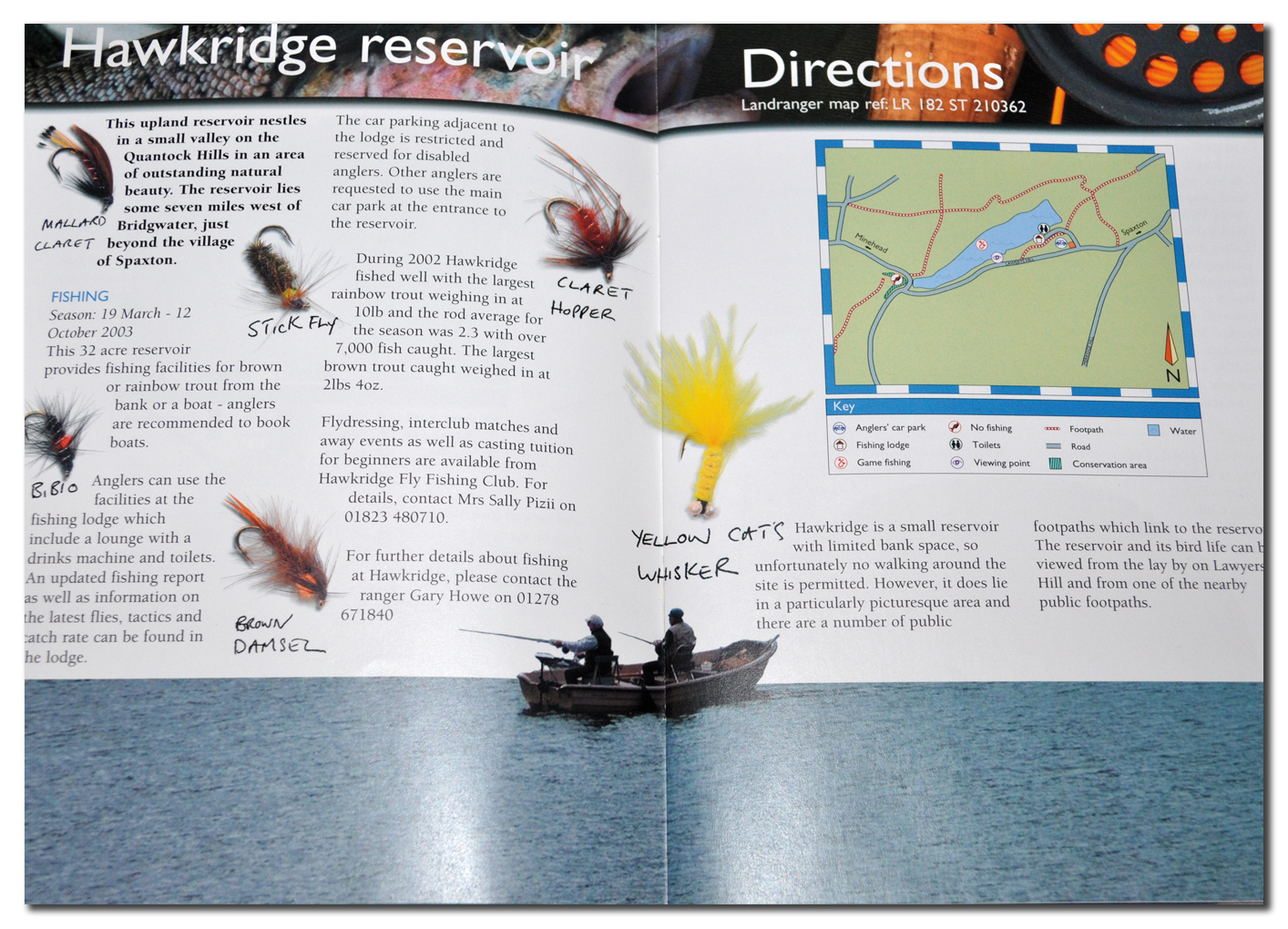 Wessex Water Fishing brochure spread