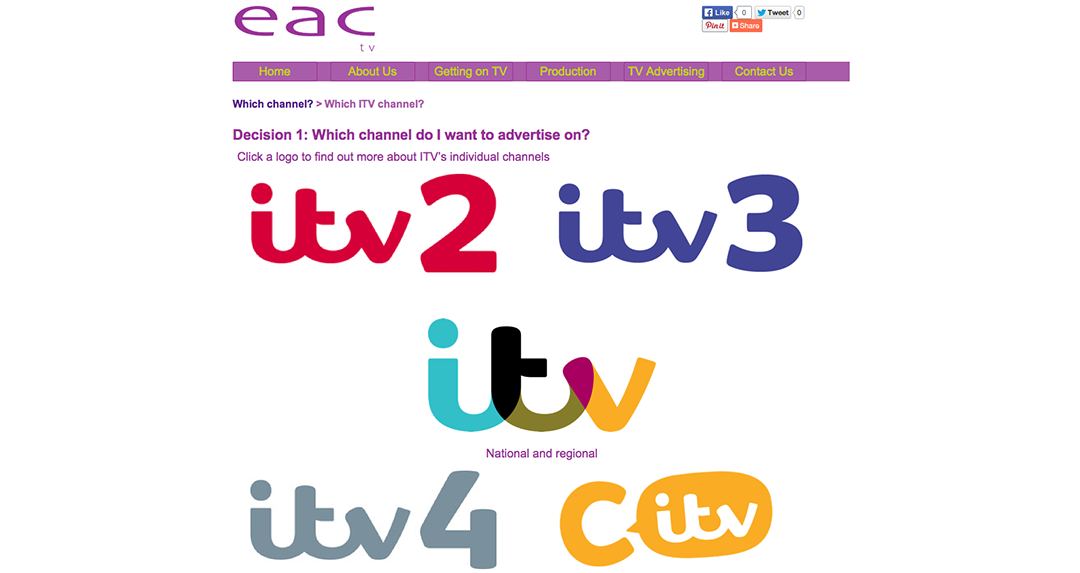 EAC ITV Advertising Channels