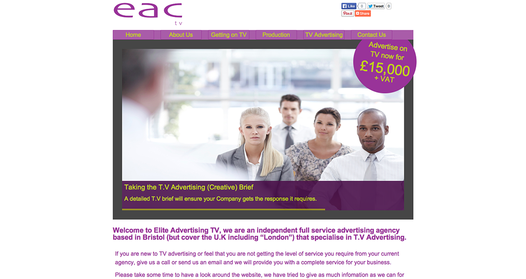 EAC TV Home page