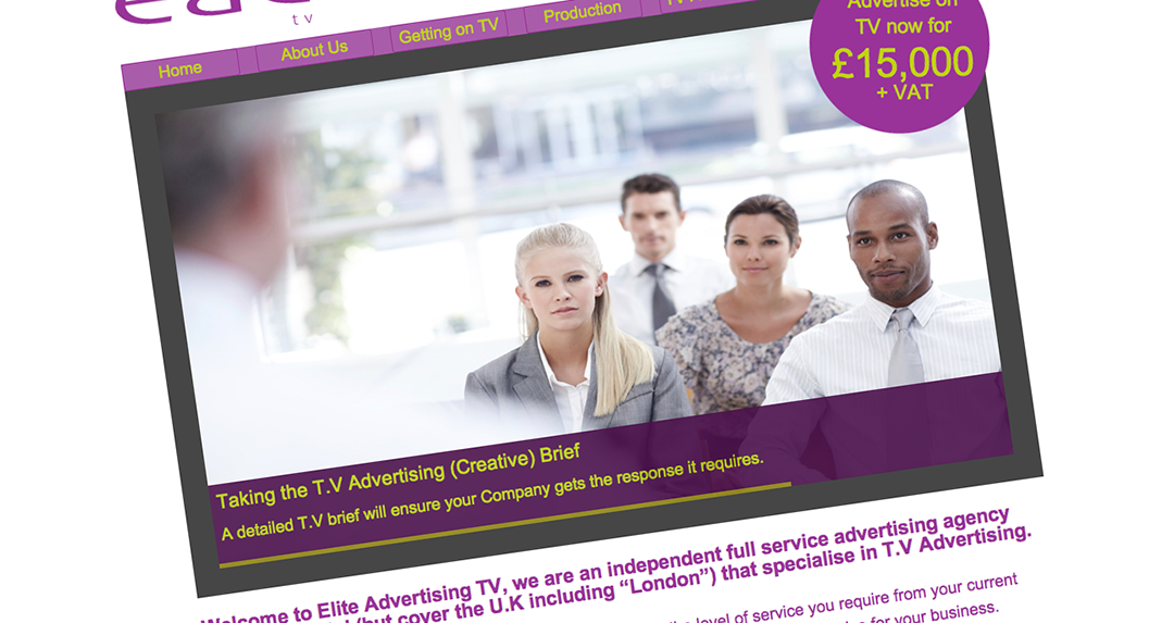 Elite Advertising Consultants TV website