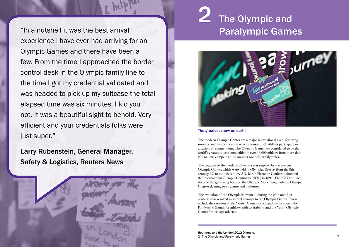 Heathrow 2012 Olympics report