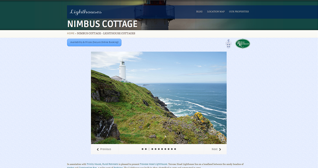 Rural Retreats Lighthouses Property Page