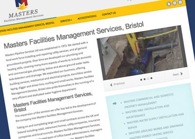 Masters Facilities Management Services, Bristol website