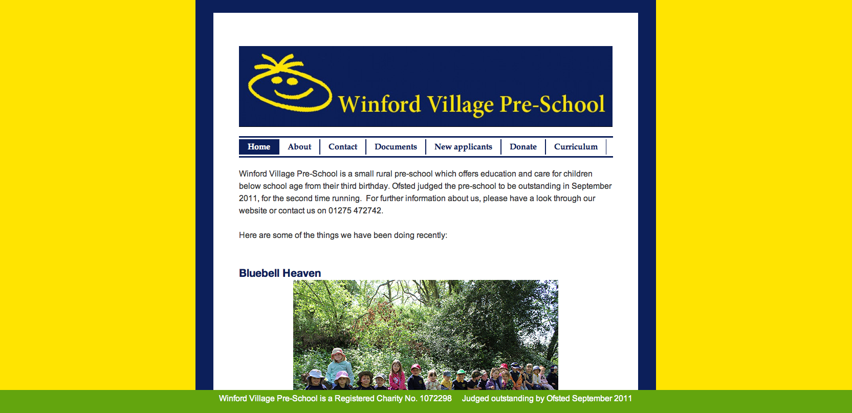 Winford Pre-School Website