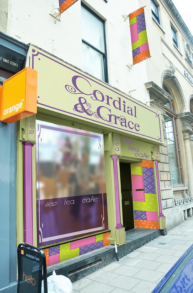 Cordial & Grace shop front design