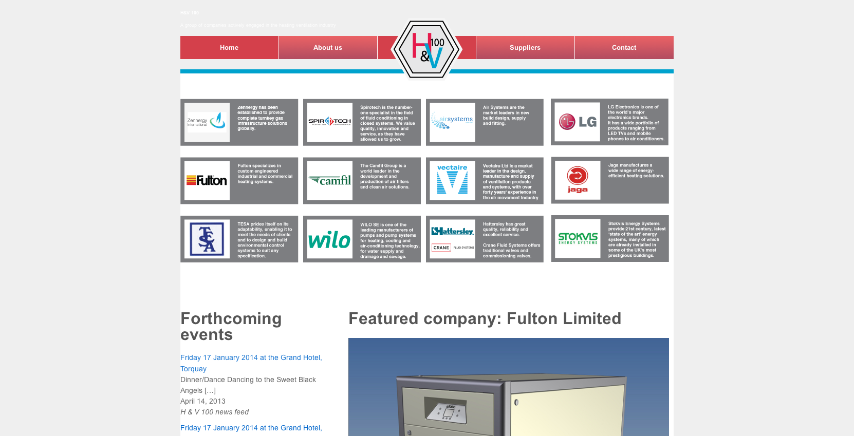 H&V 100 homepage