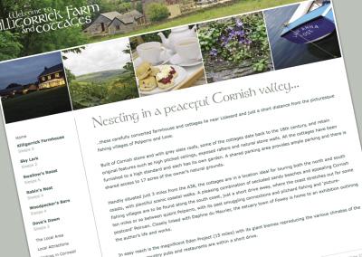 Killigorrick Farm and Cottages Website update
