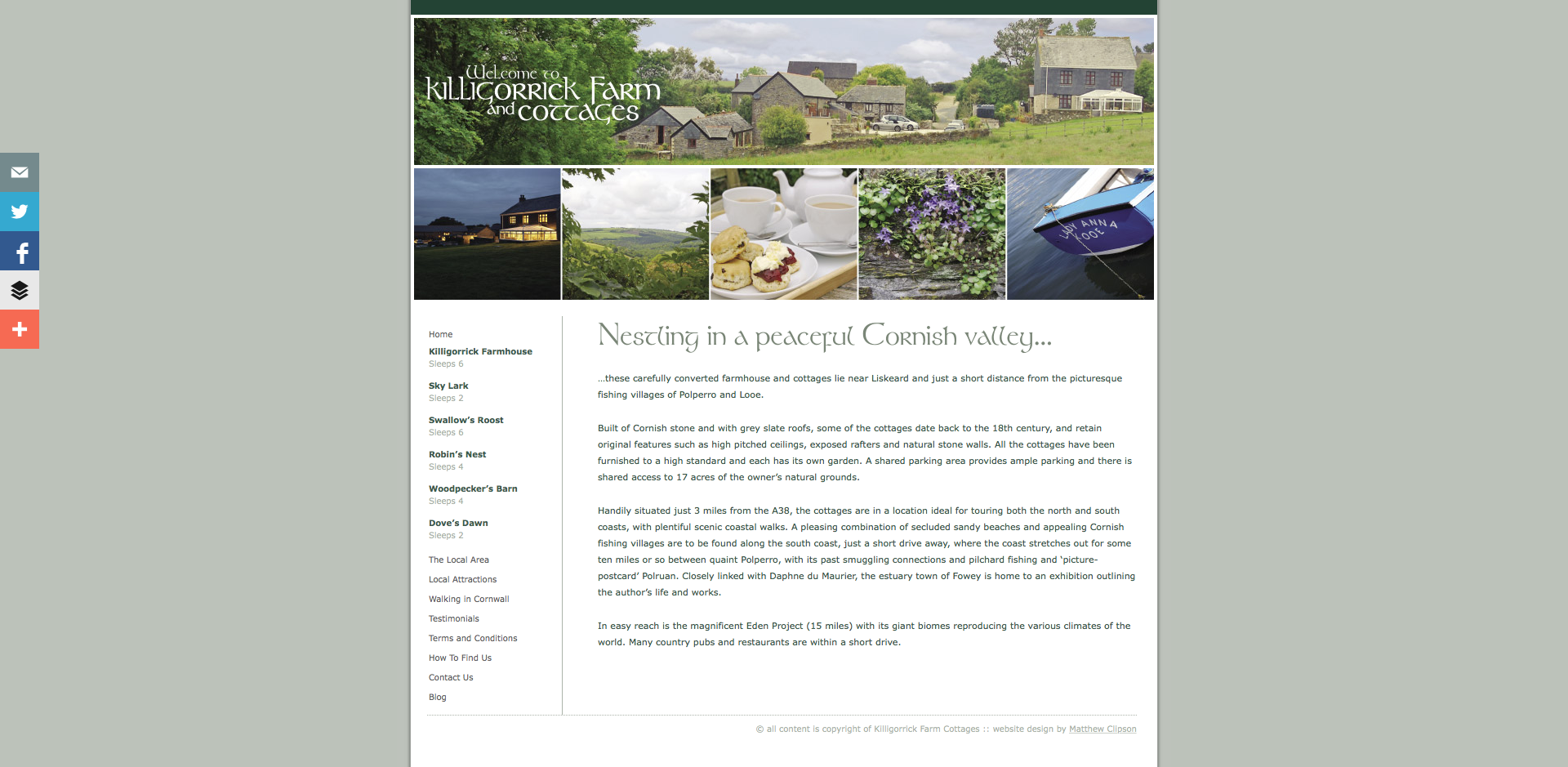 Killigorrick Farm and Cottages Home page