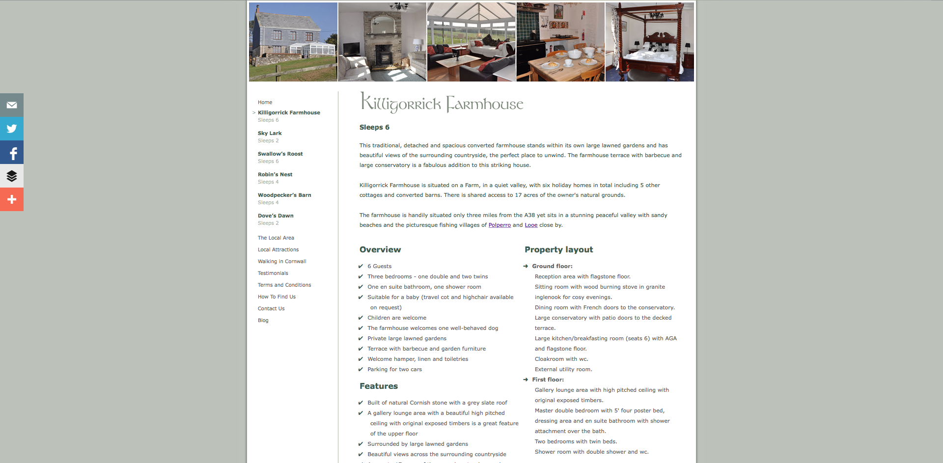 Killigorrick Farm and Cottages Property page