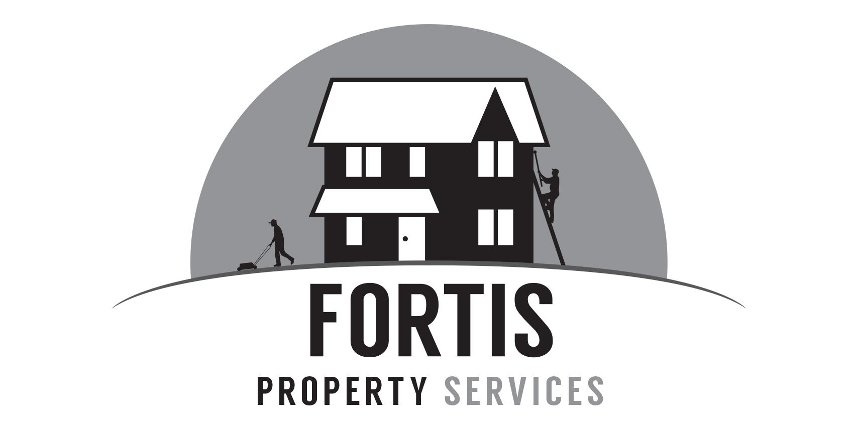 Fortis Property Services Logo alternative black & white
