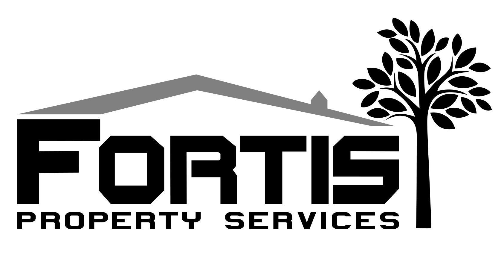 Fortis Property Services logo Black & White