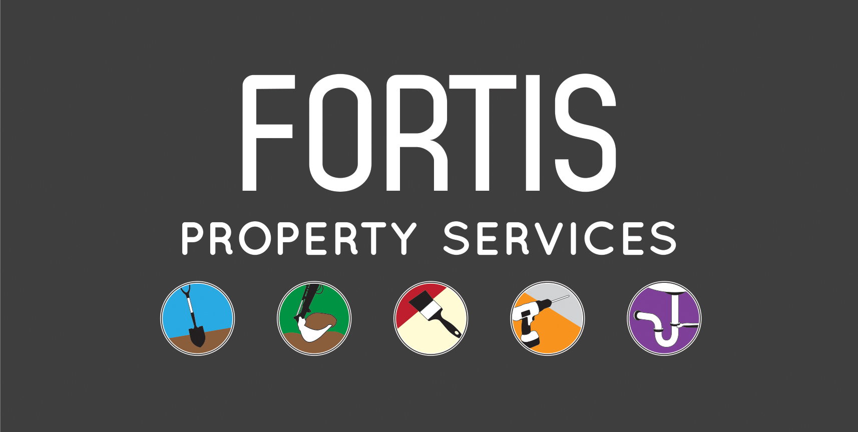 Fortis Property Services Logo second alternative reverse