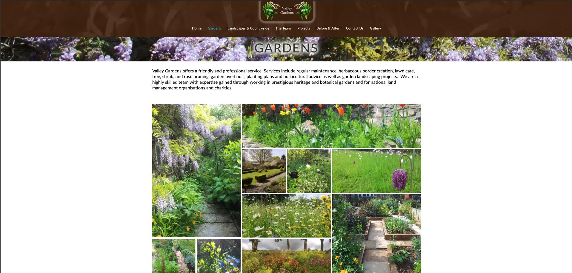 Valley Gardens Gardens page