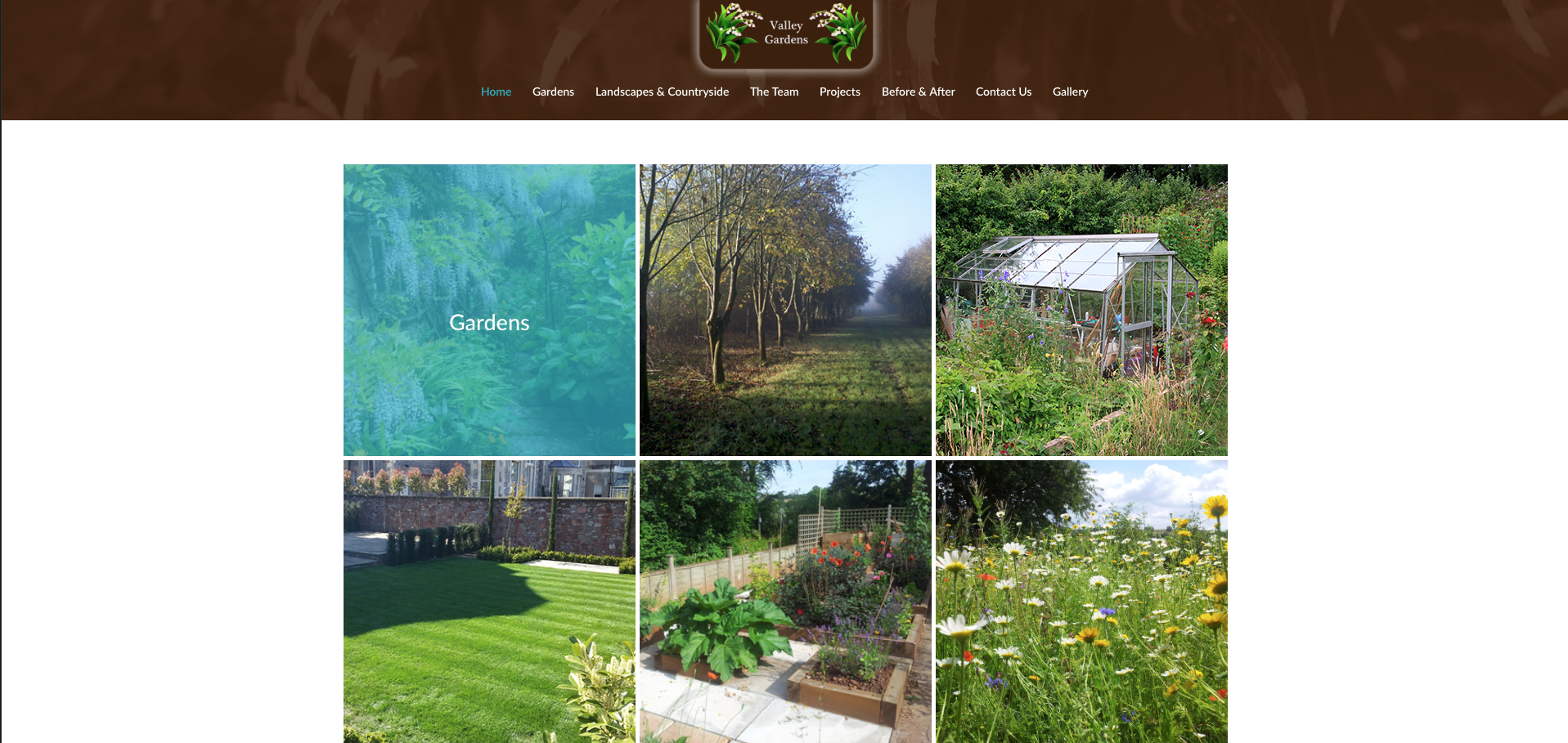 Valley Gardens Home page