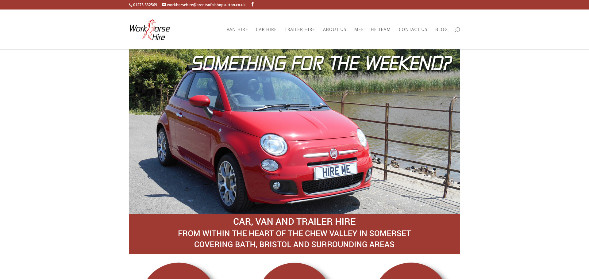 WorkHorse Hire Homepage