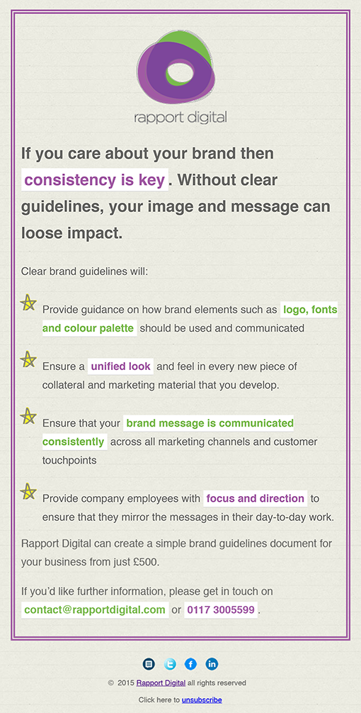 Brand Guidelines Email