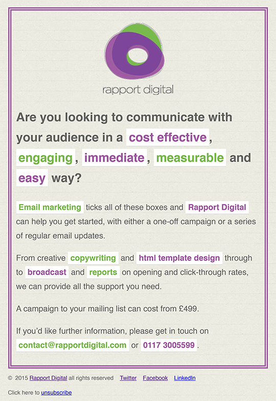 Communications email