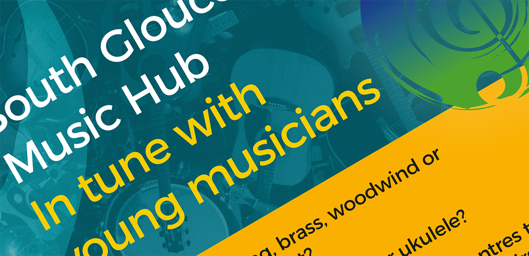 South Gloucestershire Music Hub flyer rotated