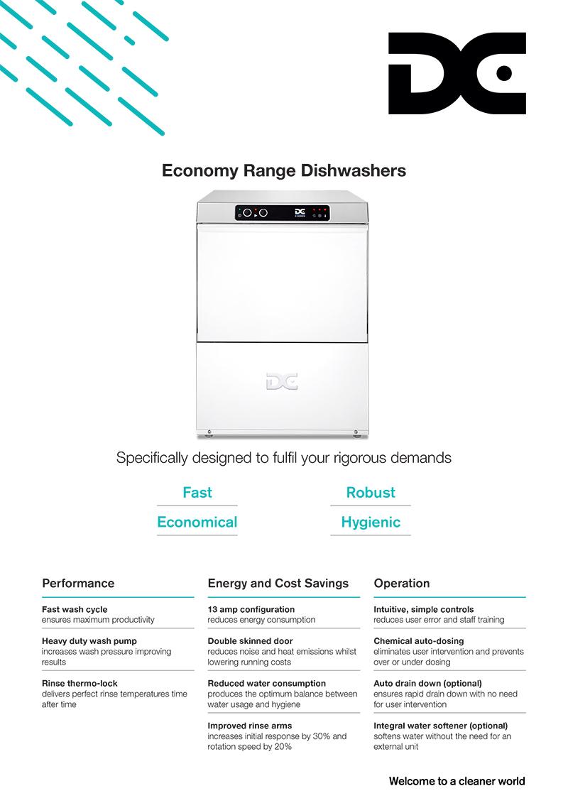 Image showing front of Economy Dishwashers product flyer