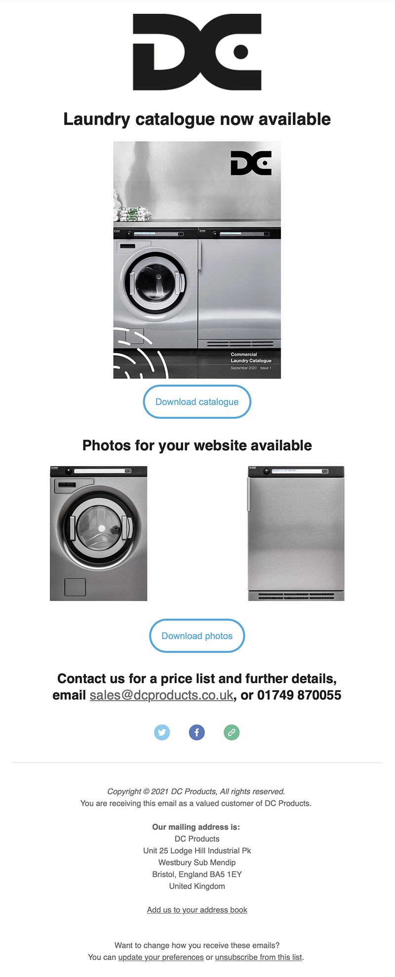 Image showing a laundry email